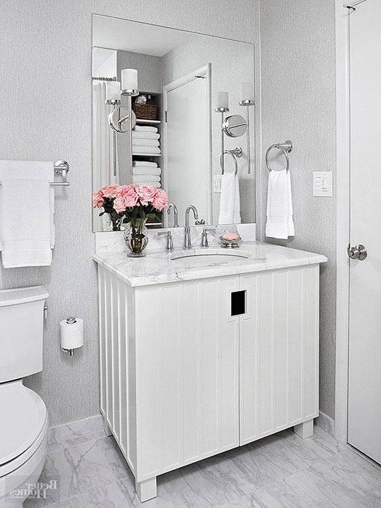 gray white bathroom