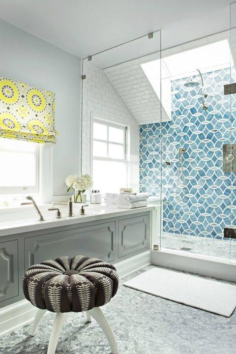 Gray Bathroom 1 x 1 Tile Ideas