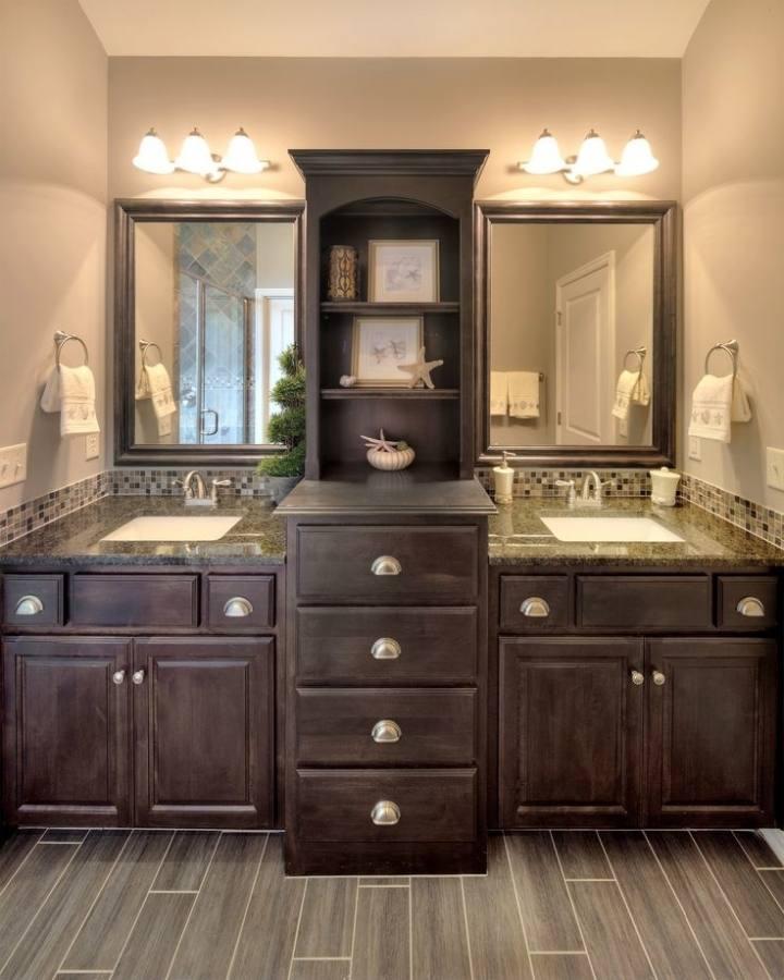 modern l shaped bathroom vanity to set in gorgeous modern room dark l shaped bathroom