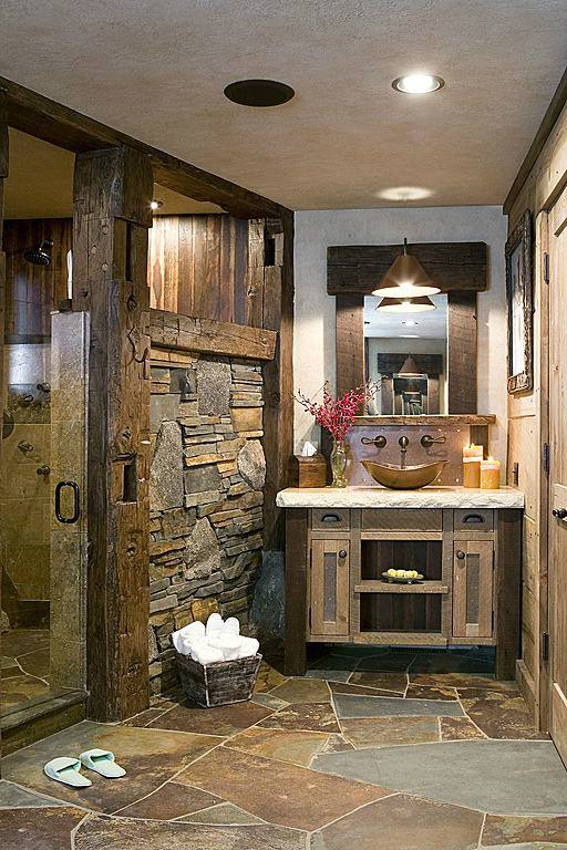 country style bathrooms