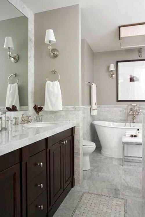 Half Tiled Bathroom Ideas A32f On Stylish Home Decoration For Interior Design Styles with Half Tiled