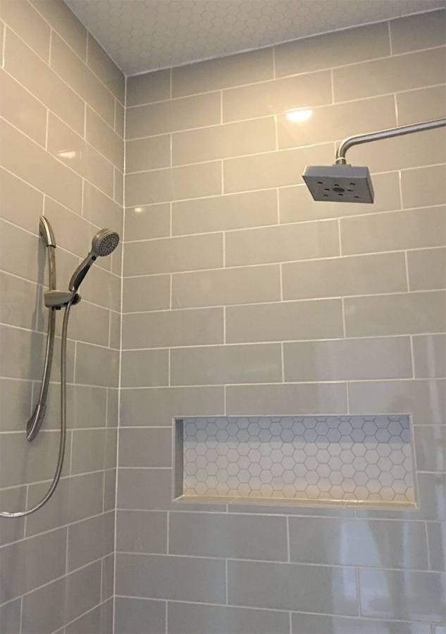 gray tile bathroom ideas grey subway black washstand transitional dark bathroo