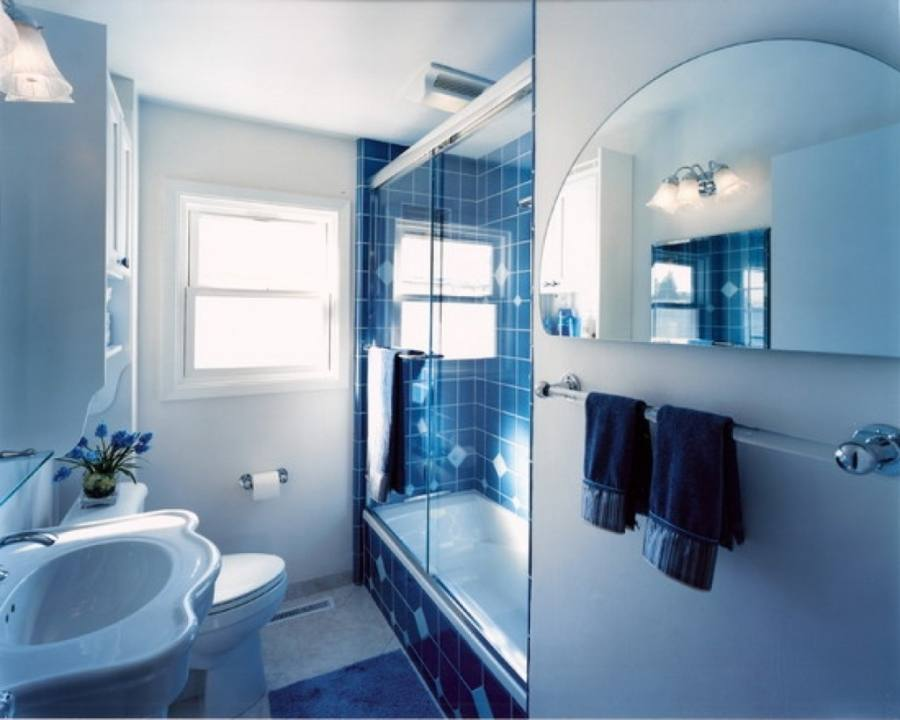Lovable Bathroom Ideas Blue And White with Easy Blue And White Bathroom Tile With Additional Home