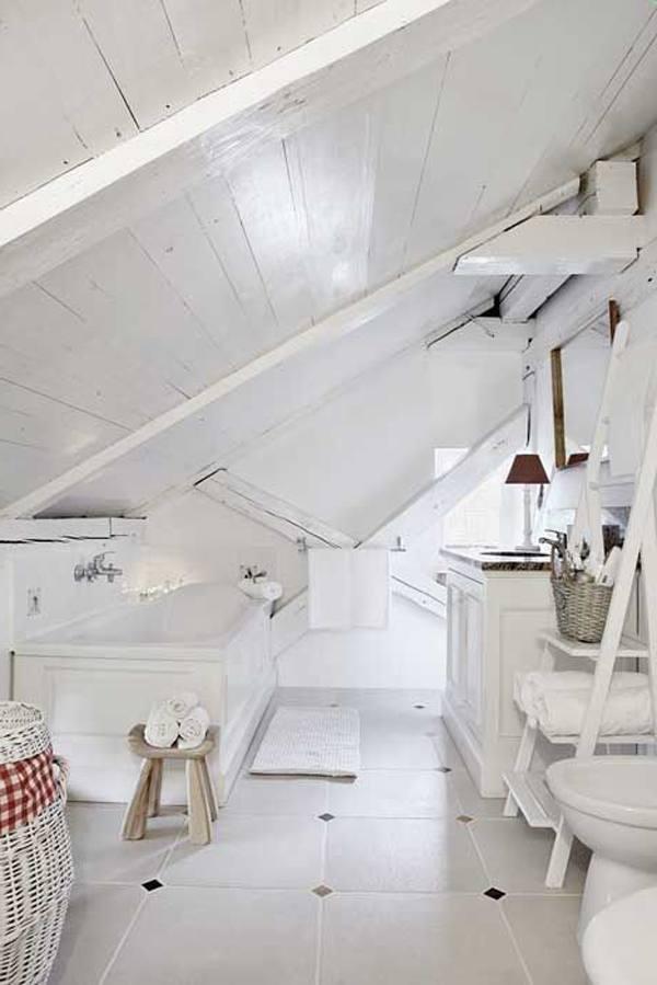 Bathroom Interior Loft With Classic Scandinavian Design Tile