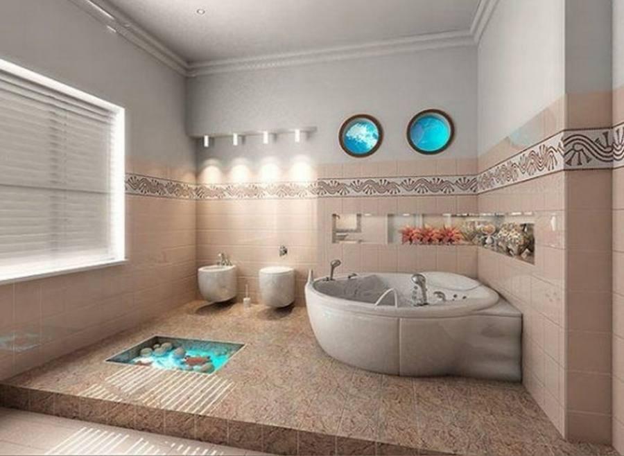 [Bathroom Accessories] Decoration Bathroom Sea
