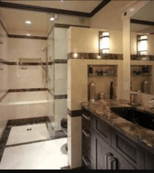 gray small bathrooms