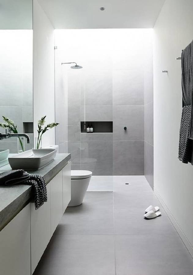 White and grey bathroom designs