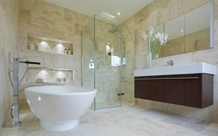Contemporary bathroom in London