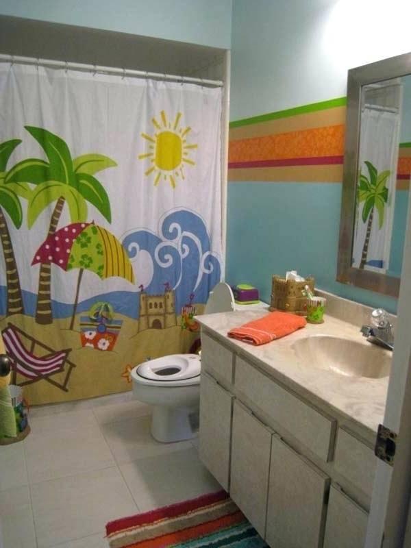 beach themed bathroom