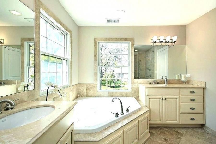 beige tile bathroom - #bathroomideas #bathroompics #bathroomdesign