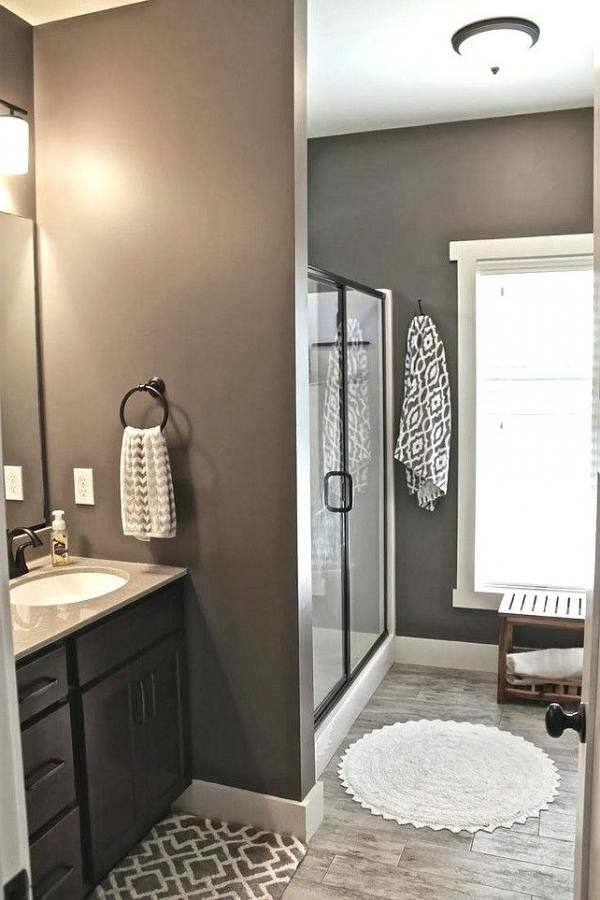 Impressing Warm Bathroom Ideas In Tone Brown Neutral Color Bathrooms