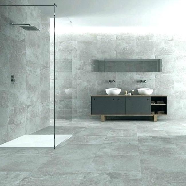 bathroom ideas concrete tiles