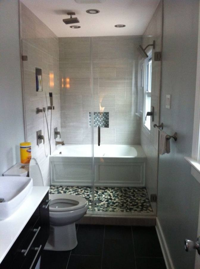 stand+up+shower+designs | Bathroom, : Exquisite Bathrooms Look Using Rectangular Glass Shower