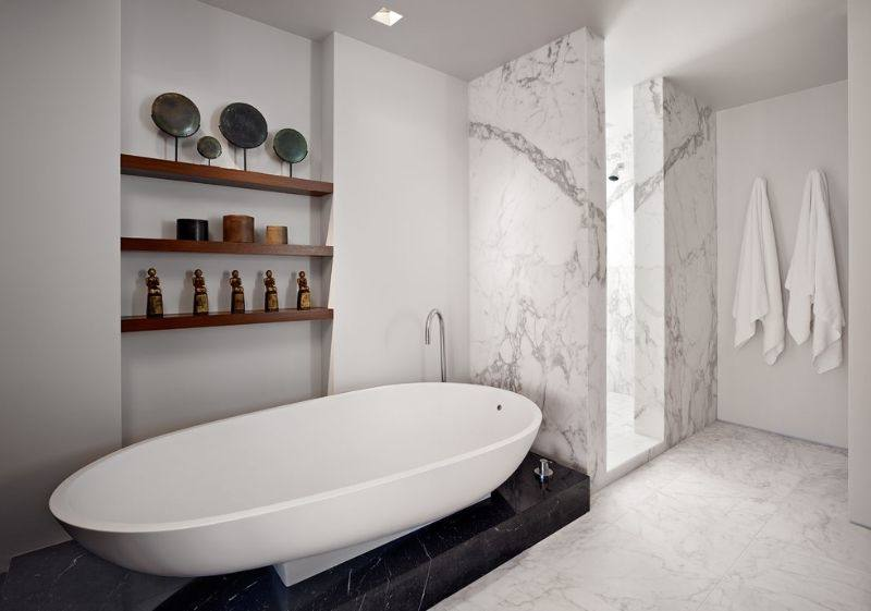 small marble bathroom