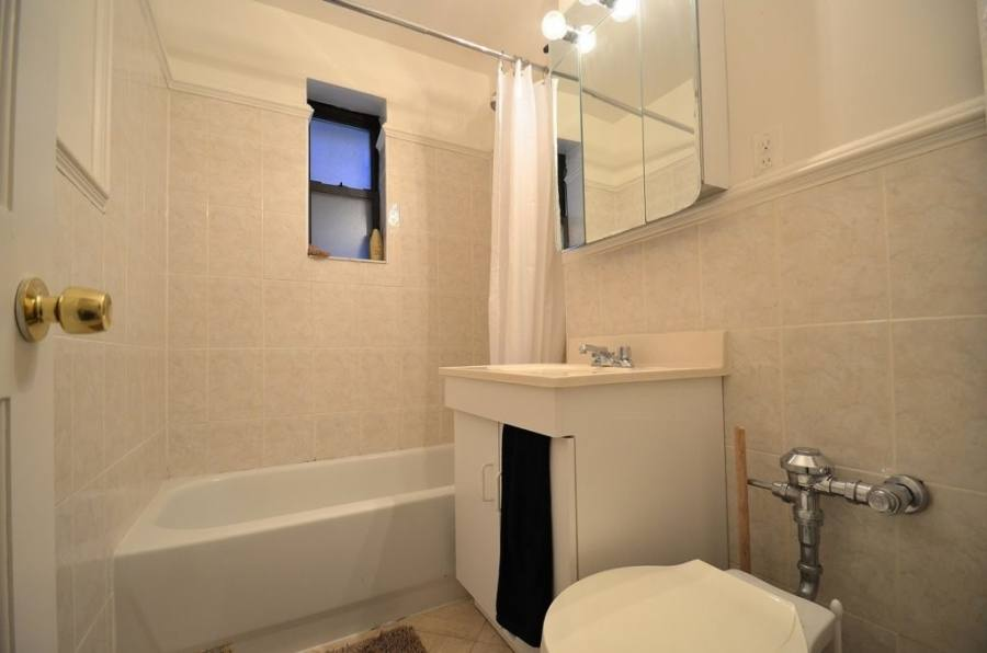 Place the shower first the line the bathtub up to it
