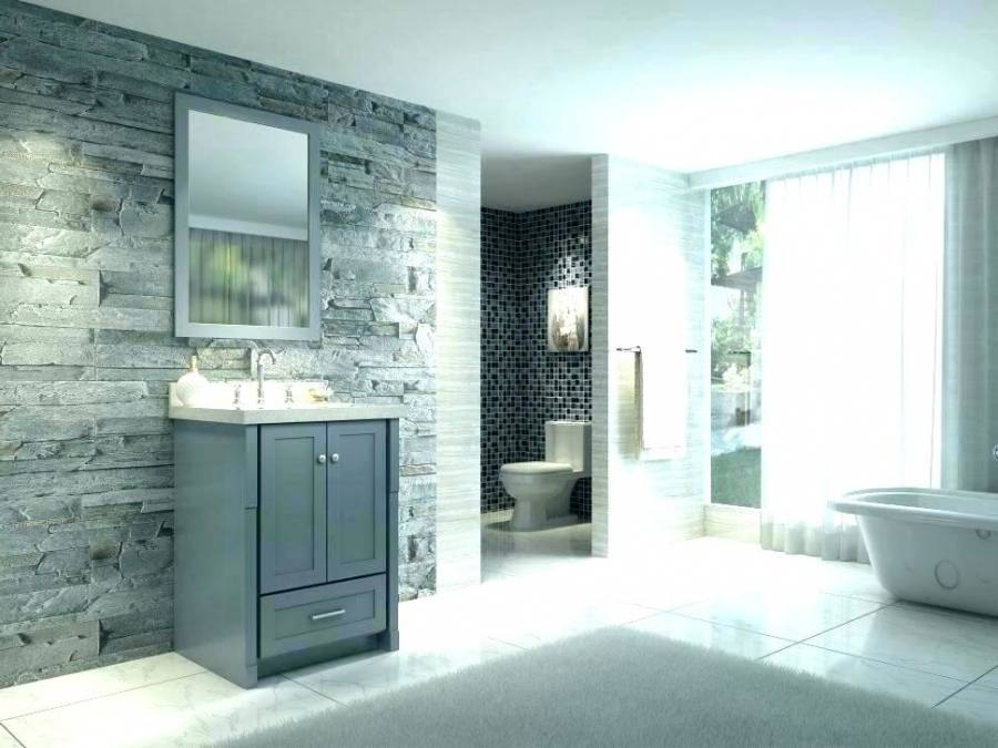 gray vanity bathroom
