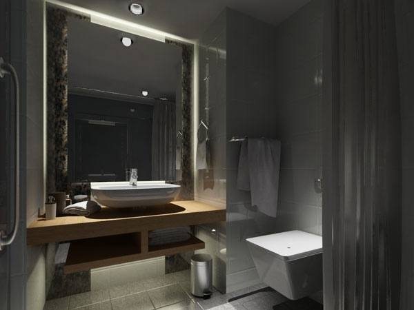 grey and red bathroom ideas black gray