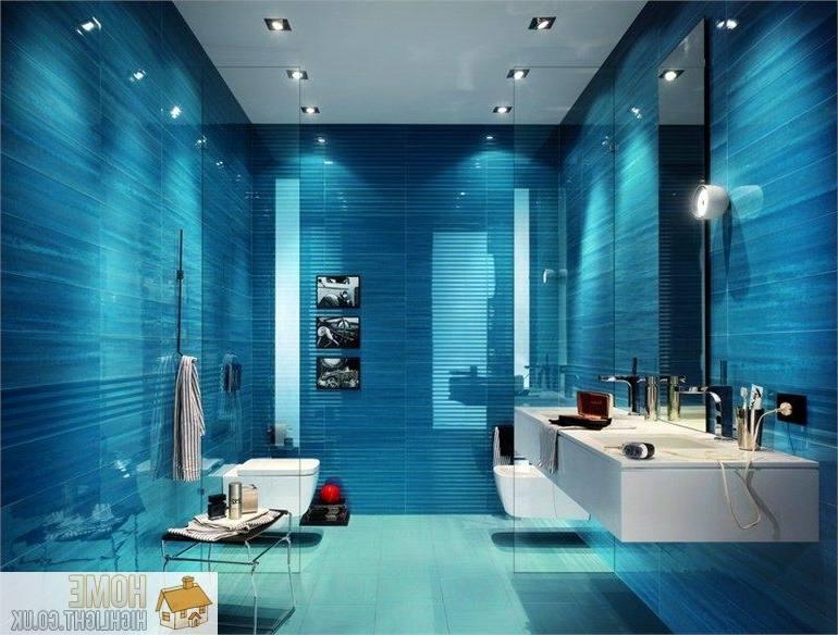 Interior Blue Bathroom Walls