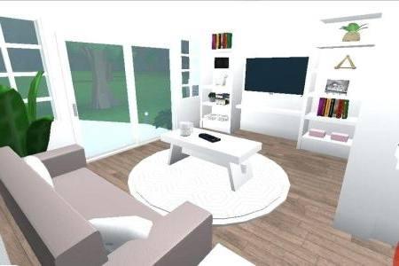 Shower And Shelves In Modern White
