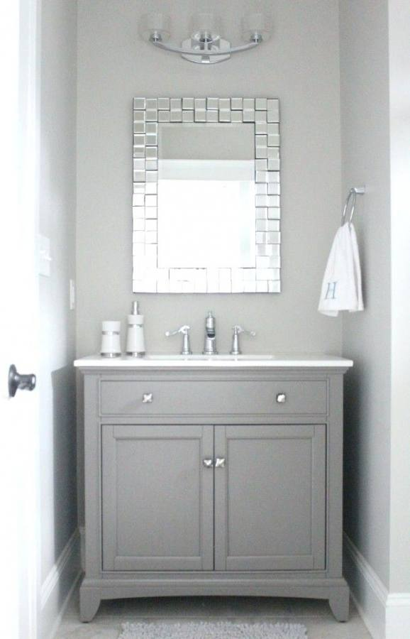 grey vanity bathroom