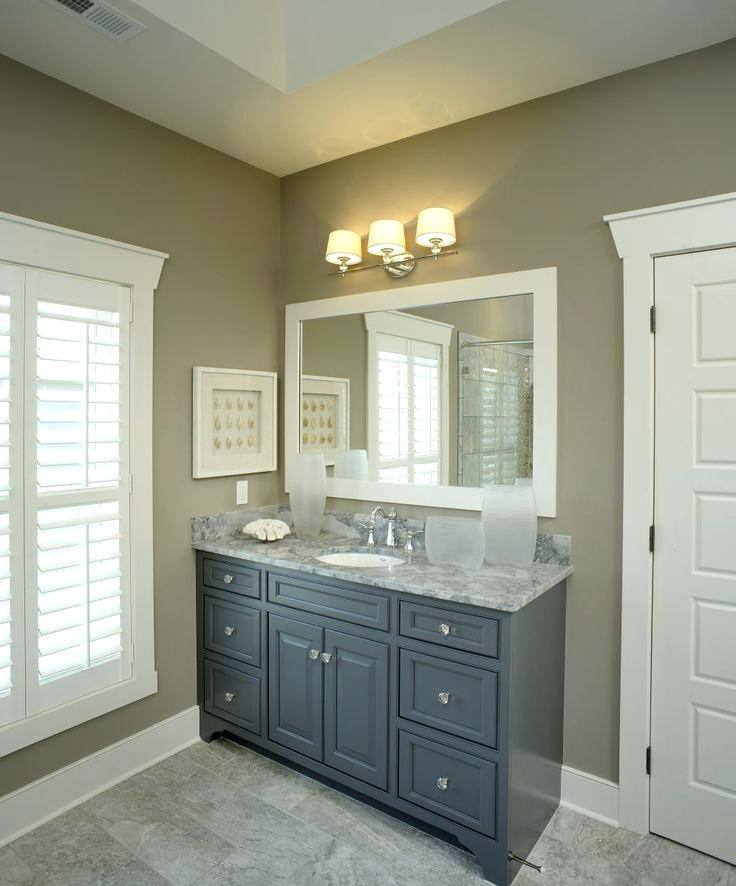 Awesome Gray Bathroom Vanity Intended For Best 25 Grey Ideas On Pinterest Tile
