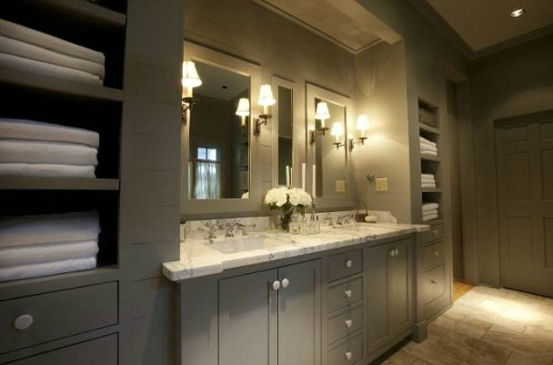 Choose grey and white bathroom pictures for your inspiration decorating ideas