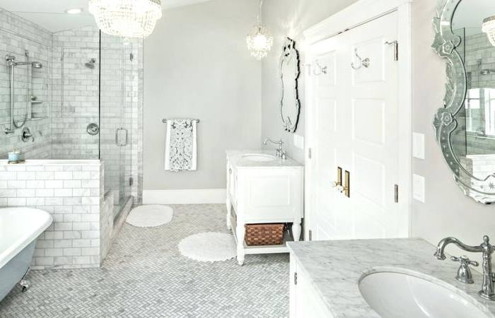 maybe a glass tile accent stripe in the shower?