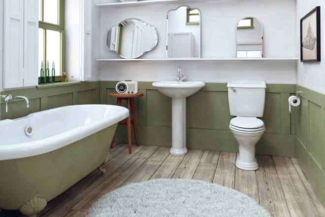 [Bathroom Design] Edwardian Grey Traditional Bathroom