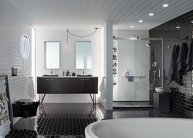 Modern Waterfall Showers With Tile Floor And Wall For Bathroom Design Your Bedroom Ideas Kohler Shower