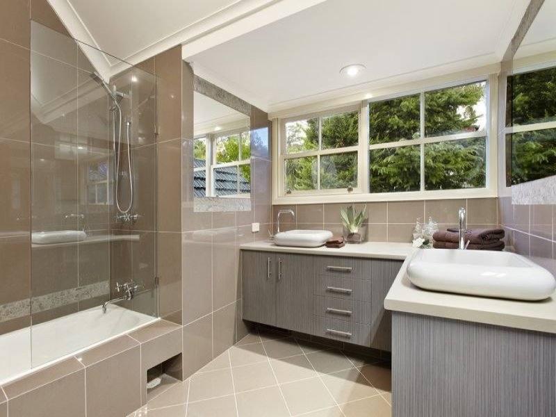 [Bathroom] Admirable Grey Bathroom Interior And Improvisation Ideas: Rectangle Bathtub With Grey Bathroom