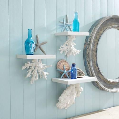 seashell bathroom accessories ideas lovely sea themed beach decor curtains s