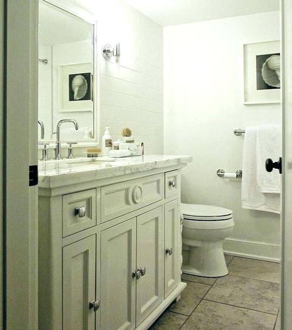 off white bathroom