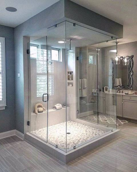 clawfoot tub glass shower enclosure elegant marble floor tiles with glass shower enclosure for luxury bathroom