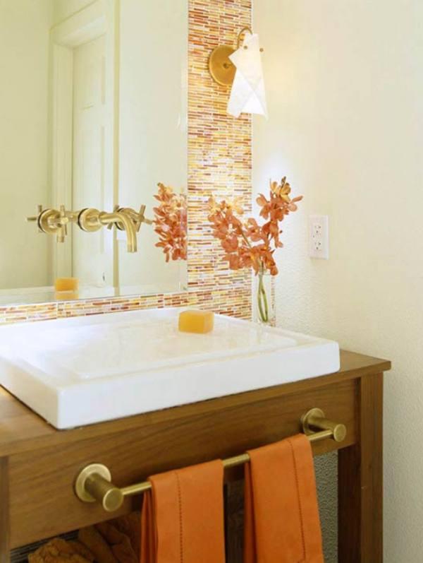New orange bathroom desing #bathroomdesign