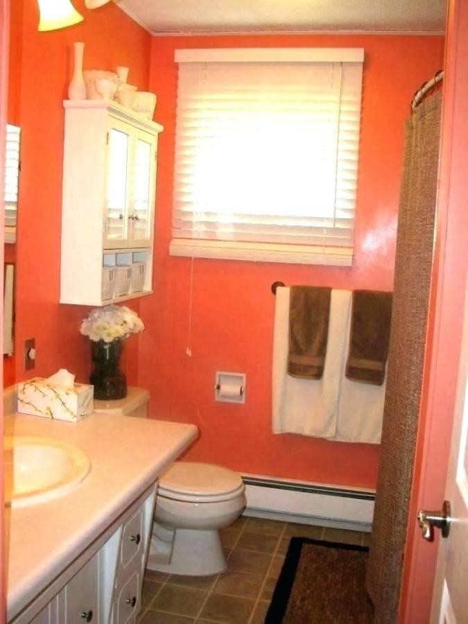 3 4 bathroom ideas orange bathroom ideas 5 tags contemporary 3 4 bathroom with wall mounted