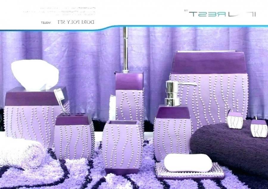 small purple bathroom