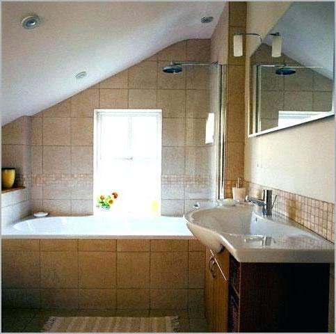 bathroom ceiling ideas small with slanted