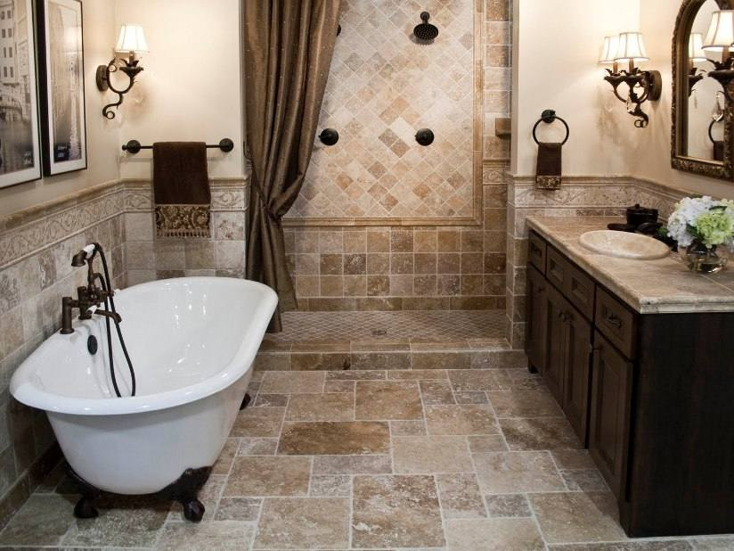 traditional bathroom tile design ideas - #bathroomideas #bathroompics #bathroomdesign