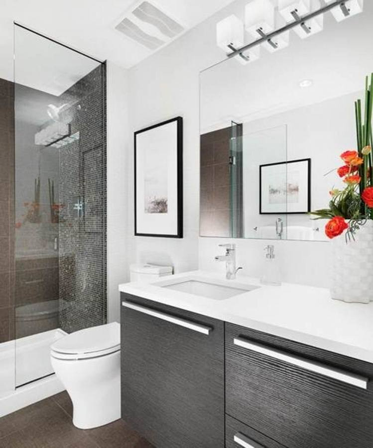 cool contemporary small bathroom
