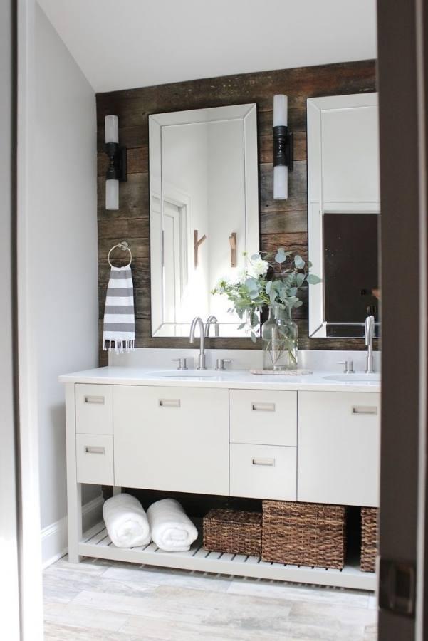 Small Modern Rustic Bathroom