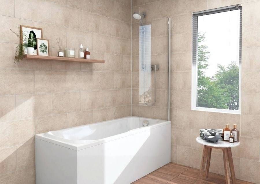 Give your bathroom a contemporary look with the Textured Gray vanity and satin nickel hardware