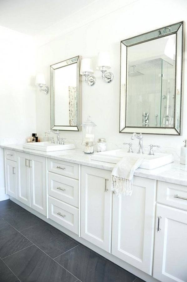[Bathroom Ideas] Marble Tile White Bathroom