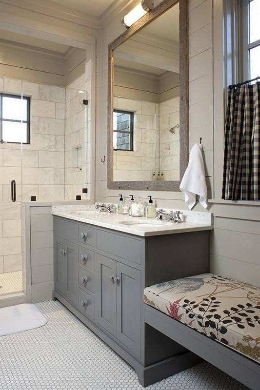 small bathroom gray