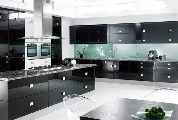 a beautiful black and white kitchen which is a great way to get the kitchen you want without compromise