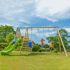 Heavy Duty Deacon Swing and Slide Set (2)