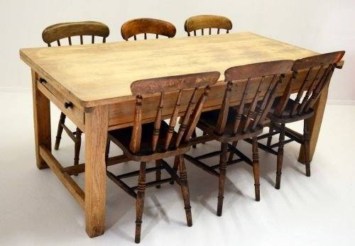 GENUINE ANTIQUE KITCHEN AND FARMHOUSE TABLES