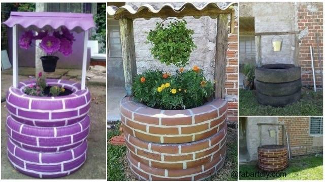 painted garden tires | Old Tires Into Nice Garden Decoration in tyre inner tube garden