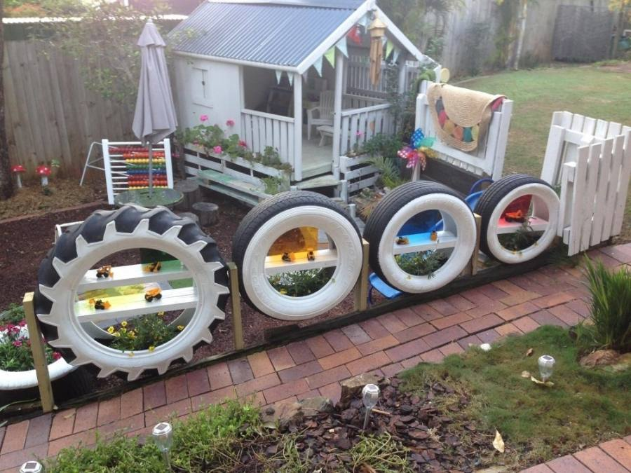 Forget boring, traditional planters, use old tyres to display your flowers