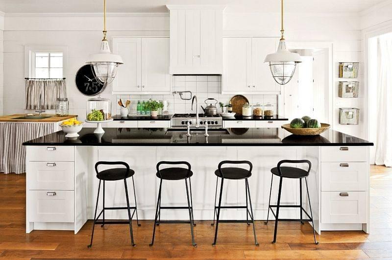 Fresh Ideas Kitchen Design In Black And White Glitzdesignnet 20 On Home