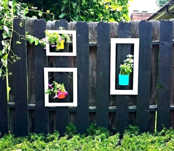 garden shelves on fence beautiful garden decoration